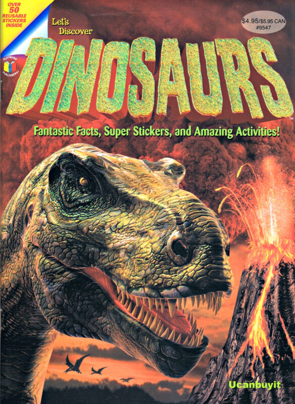 Lets Discover DINOSAURS Fantastic Facts Super Stickers & Amazing Activities Book