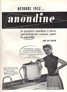 Publicite advertising 1952 anondine la premi re machine laver la vaisselle ebay - Premiere machine a laver ...