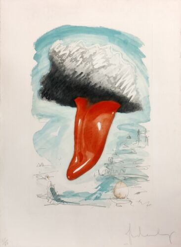 """Claes Oldenburg """"tongue Cloud Over London, With Thames Ball"""" 1976 
