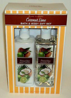 Körper-geschenk-set (Rejoice Luxus Pur Kokosnuss Limette Bad-/Körper Geschenk Set Lotion/Duschgel)