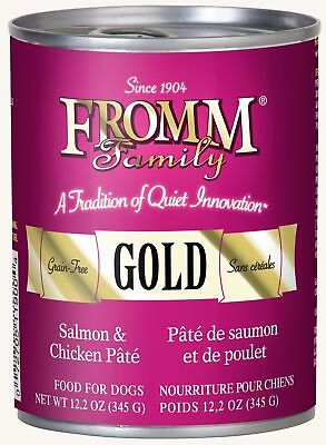 Fromm Gold Salmon & Chicken Pate Canned Dog Food (12.2oz / case of 12) FREE SHIP