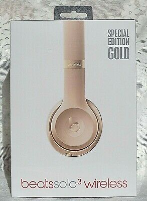 BEATS by Dr. Dre SOLO3 Wireless On-Ear Headphones SPECIAL EDITION GOLD Sealed