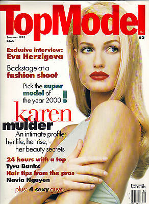 Karen Mulder Top Model Magzine Summer 1995  5 Tyra Banks Eva Herzigova