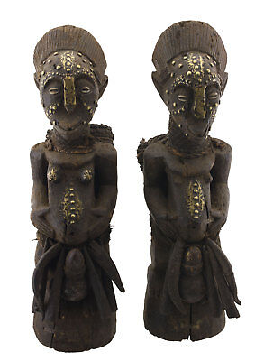 Couple Antique Statue african Ibo Nigeria worship Exceptional and rare 16634