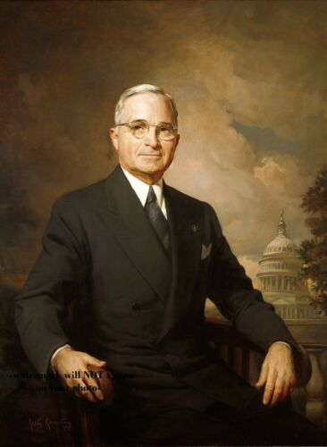 Harry Truman Official Portrait PHOTO President