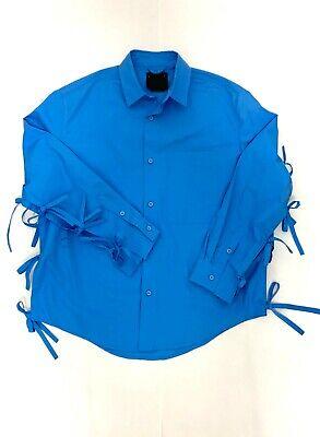 SS15 Craig Green Men's Electric Blue Split Tie Button Down Shirt