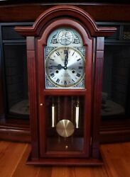 WALTHAM 31 DAY CHIME TEMPUS FUGIT WIND UP WALL CLOCK WITH KEY