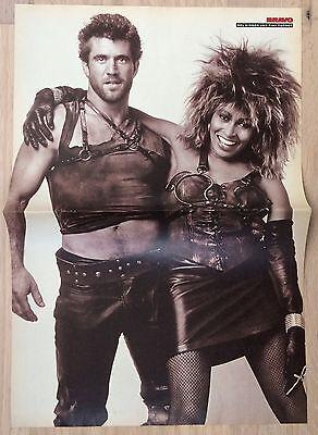 BRAVO POSTER Tina Turner & Mel Gibson - - Tina Turner 80er Jahre