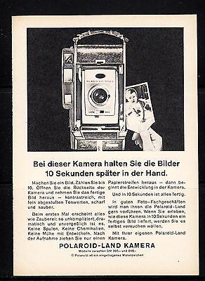 3w418/ Alte Reklame - von 1961 - POLAROID Land Kamera