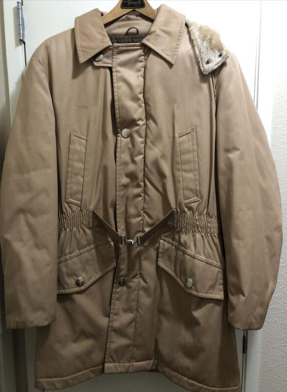 Vintage Outerwear By Sears 44 Reg Womens Faux Fur Tan