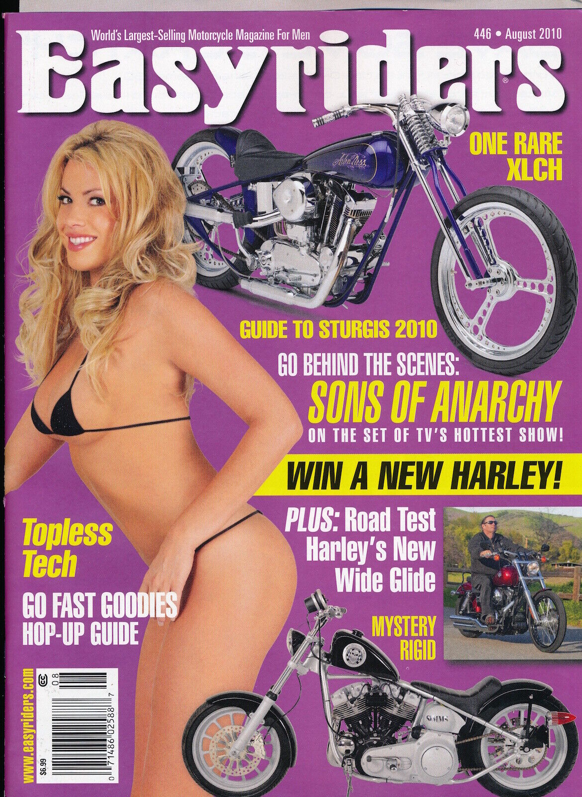 EASYRIDERS August 2010 Vintage Magazine PINUP Motorcycles SONS Anarchy 127009 - $2.00