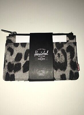 The Herschel Supply Company Oscar Leopard/Camo Wallet Card Case NWT