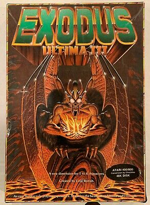 Atari Exodus Ultima III - 8-bit 48k Atari 400/800 Computer Video Game