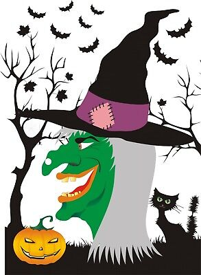 Halloween Pin Games 20 & 40 Players A3 size, Witch, Zombie, Pumpkin, Spider Web  - Spider Web Halloween Games