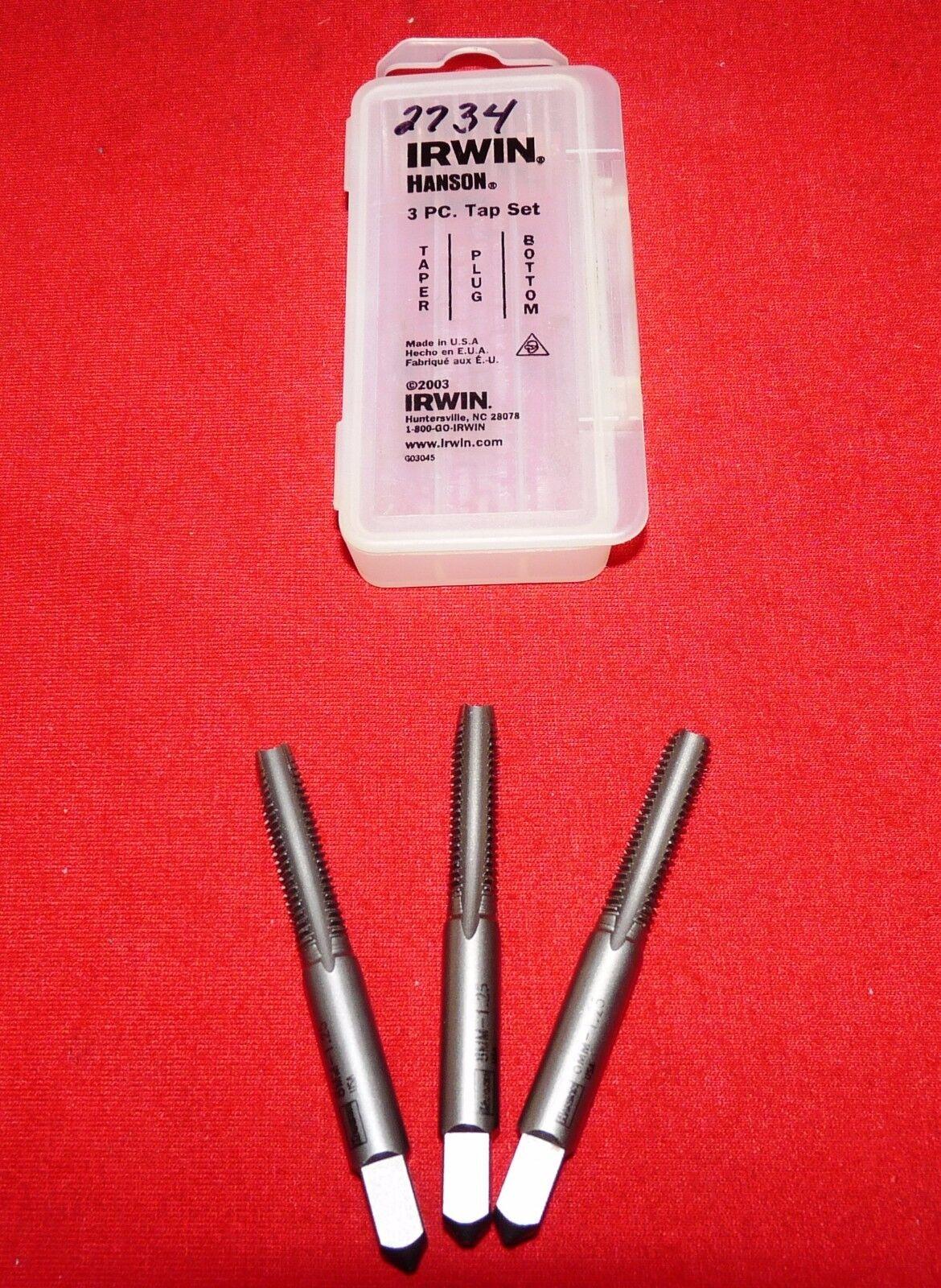 Irwin Tools 2734 3 Piece Set Tap 8 mm 1 25 Brand New