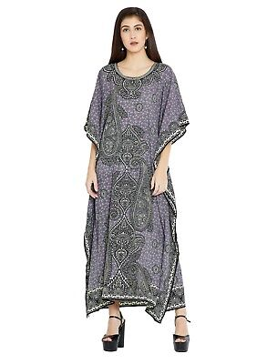 Dress Kaftan Long Maxi Black Women Abaya Grey Caftan Muslim Islamic Womens Plus