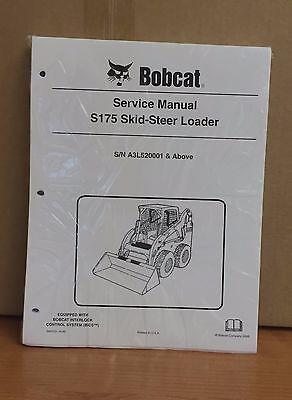 Bobcat S175 Skid Steer Loader Complete Shop Service Repair Pn 6987035