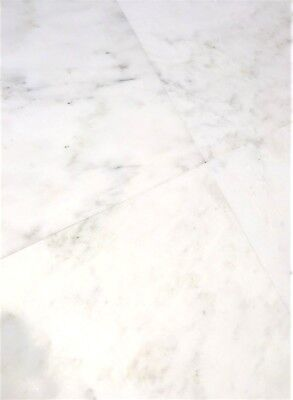Carrara White 12x12 Honed Straight Edge Marble Tile Wall Backsplash Kitchen Bath