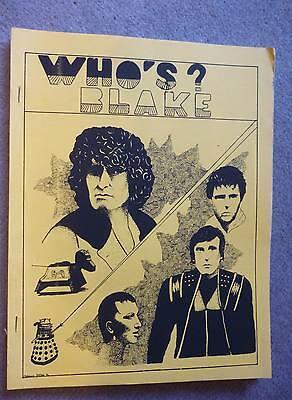 Vintage Blake's Seven 7/Doctor Dr Who Fanzine. Who's Blake # 1. 1987