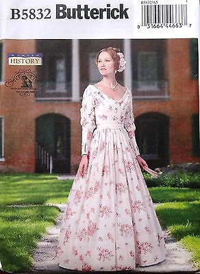 BUTTERICK History Victorian Dress Southern Belle Gown Costume Sew Pattern 6-14 - Southern Belle History