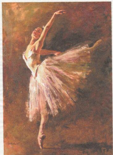 Rice Paper for Decoupage Scrapbook Craft Sheet Ballet Dancer