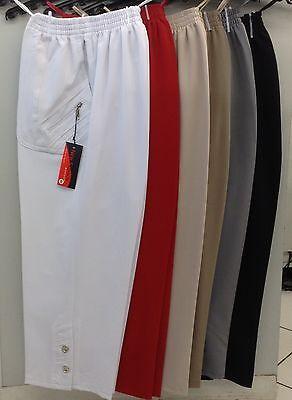 Beige Capri-hose (Damen Schlupfhose 7/8 Caprihose Sommer Hose Gr.40-56 Schwarz,Beige,Weiß und Grau)