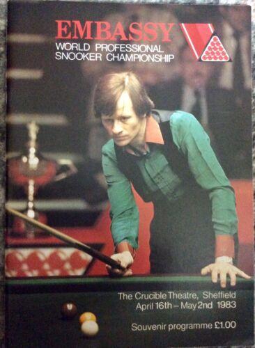 WORLD PROFESSIONAL SNOOKER CHAMPIONSHIP PROGRAMME 1983.