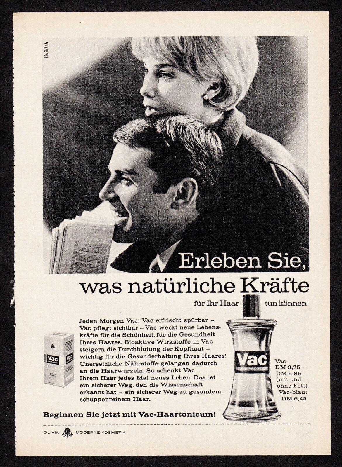 3w02413/ Alte Reklame von 1961 - VAC-Haartonicum - OLIVIN-Kosmetik