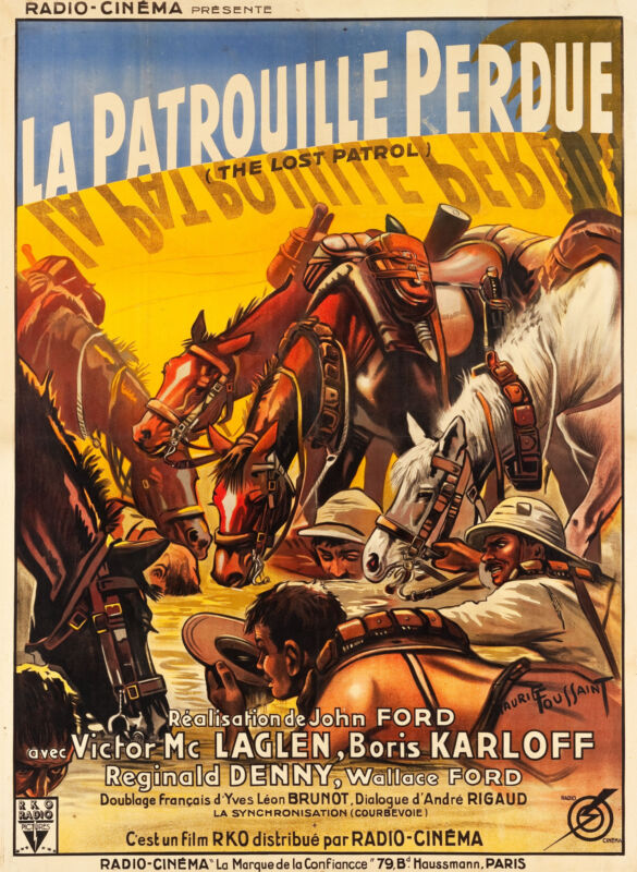 THE LOST PATROL - ORIGINAL FRENCH POSTER - VERY RARE