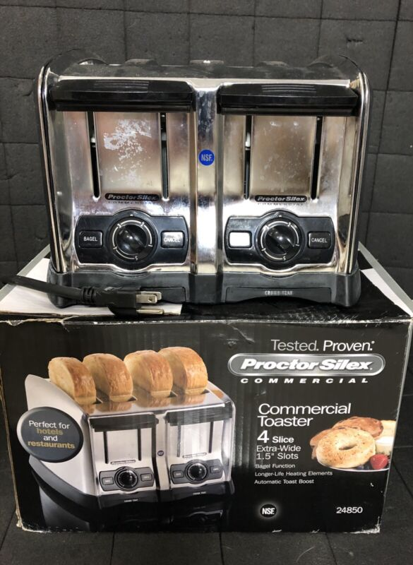 4 Slice 1,650 Watt Commercial Restaurant NSF Electric Toaster - 120 Volt