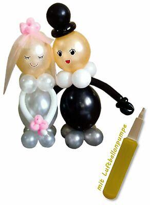 DIY Ballonfigur Boda (70cm) Con Luftballonpumpe Novios Globo Decoración
