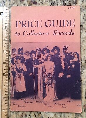 Price Guide to Collectors' Records 1952 Julian Moses