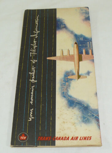 VTG Trans-Canada Air Lines Souvenir Packet Of Flight Information Folio Brochure