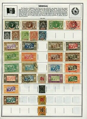 Senegal stamp collection, mint hinged, some 120 years old, nice airmails
