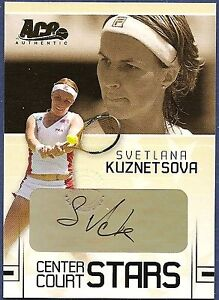 2006 Ace Authentic SVETLANA KUZNETSOVA Autograph Center Court Stars CC-19 AUTO