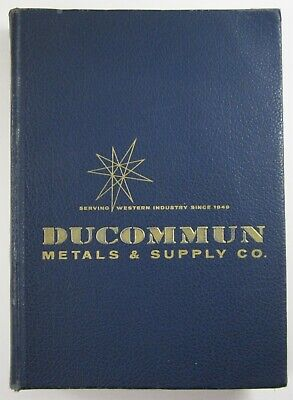 Ducommun Tool Metal Asbestos Catalog Saw Planes Machinery Lathe Mill Work 1961
