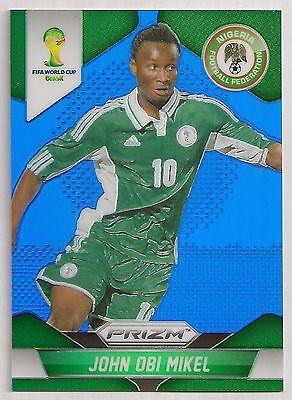 2014  152 John Obi Mikel   Nigeria   Panini Prizm Wc14 Blue  032 199
