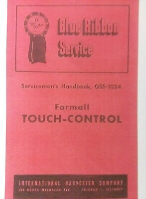Farmall International Cub Super-a C Touch-control Tractor Parts Service Manual