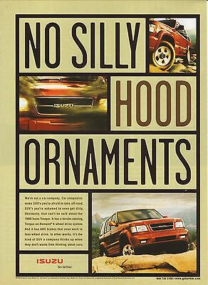 "Isuzu Trooper-- ""No Silly Hood Ornaments""--1998 Advertisement"