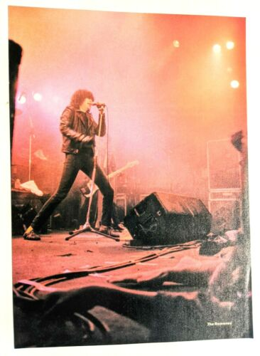 THE RAMONES / JOEY RAMONE LIVE / MAGAZINE FULL PAGE PINUP POSTER CLIPPING