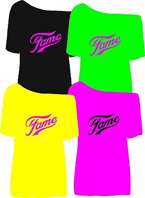 NEW neon colour fame off the shoulder  SIZE'S XS TO 5X