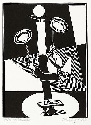 ROLAND R. BERGER - H. balanciert - Linolschnitt 2004