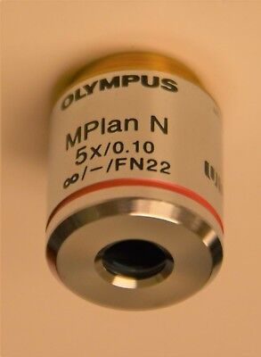 New - Olympus Microscope Objective Mplan N 5x 0.10