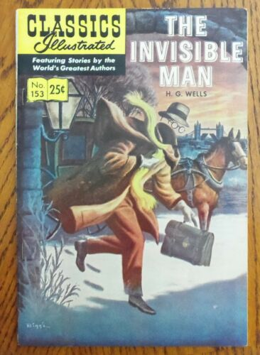 Classics Illustrated - #153 The Invisible Man HRN169!!