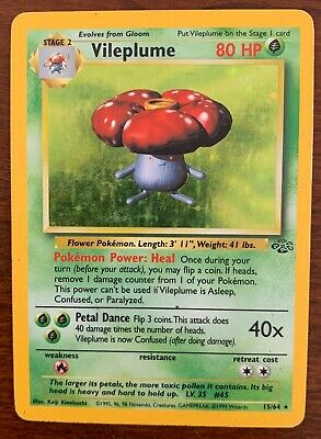 Vileplume 15/64 Holo Rare Jungle Pokemon Card
