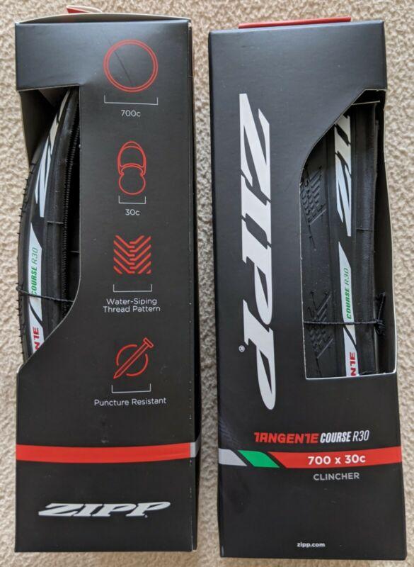 Two Zipp Tangente Course R30 Clincher Puncture Resistant 700x30c Bike Tires