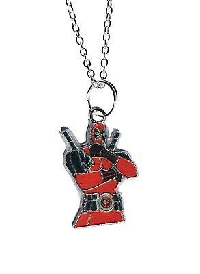 Deadpool Enamel Metal Pendant Chain Necklace