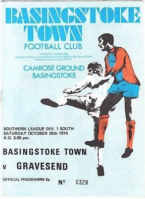 Basingstoke Town v Gravesend & Northfleet 1974/5 Southern League
