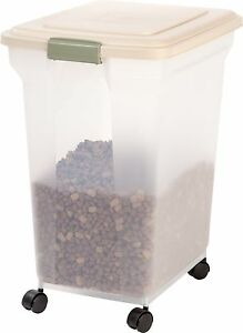 iris premium airtight dog cat pet food storage container 55 lb free shipping - Dog Food Containers