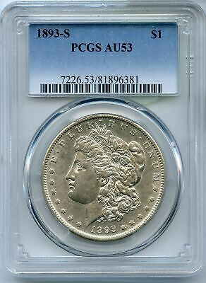 1893-S Morgan Silver Dollar PCGS AU53 $1 Certified Coin San Francisco - JC145